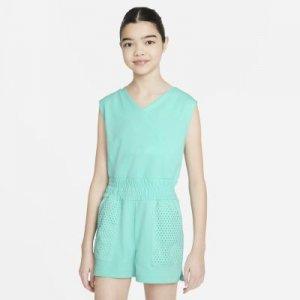 Комбинезон для тренинга девочек школьного возраста Dri-FIT - Зеленый Nike
