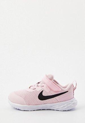 Кроссовки Nike REVOLUTION 6 NN (TDV). Цвет: розовый