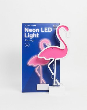 Неоновый светодиодный светильник в виде фламинго с разъемом USB -Розовый цвет Sunnylife