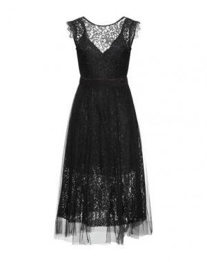 Платье миди FRACOMINA. Цвет: черный