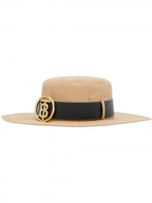 Шляпа с монограммой Burberry. Цвет: нейтральные цвета