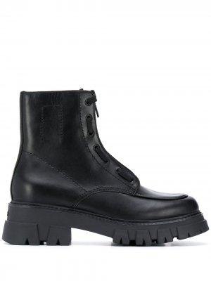 Ботинки на массивной подошве Ash. Цвет: черный