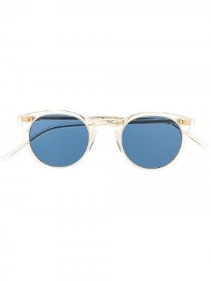 Солнцезащитные очки Ocean Sun в круглой оправе Garrett Leight. Цвет: нейтральные цвета