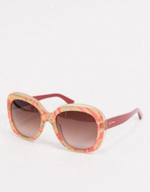 Овальные солнцезащитные очки Etro-Многоцветный ETRO