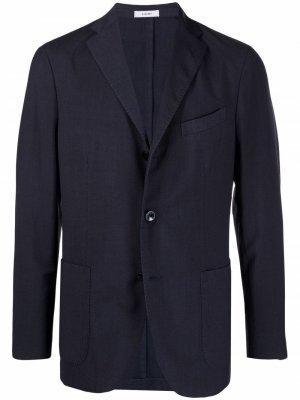Однобортный пиджак Boglioli. Цвет: синий