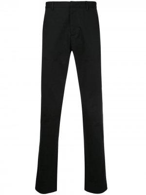 Классические брюки прямого кроя Cerruti 1881. Цвет: черный