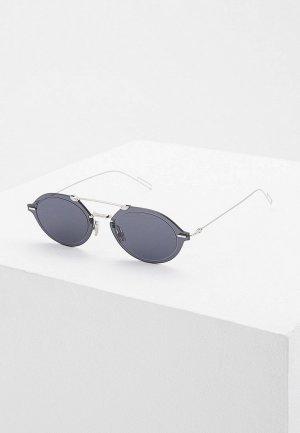 Очки солнцезащитные Christian Dior Homme DIORCHROMA3 010 GREY AR. Цвет: серебряный