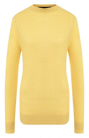 Пуловер из смеси шерсти и кашемира Runway Marc Jacobs. Цвет: желтый