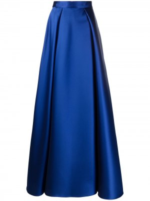 Юбка макси А-силуэта Alberta Ferretti. Цвет: синий