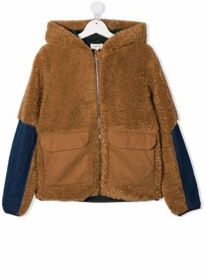 TEEN hooded fleece jacket LANVIN Enfant. Цвет: коричневый