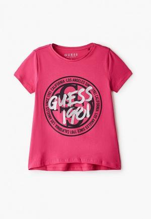 Футболка Guess. Цвет: розовый