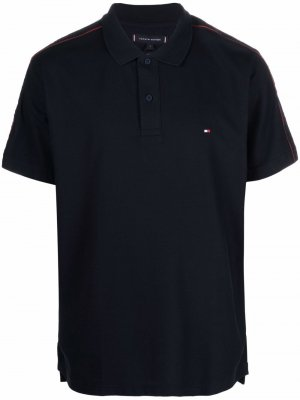 Рубашка поло с вышитым логотипом Tommy Hilfiger. Цвет: синий