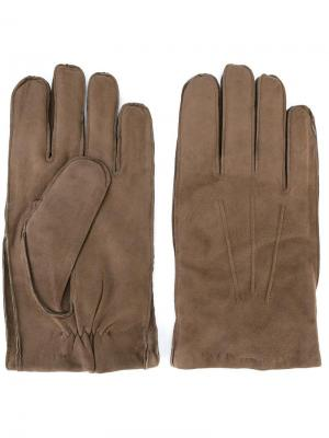 Перчатки с видным швом Orciani. Цвет: нейтральные цвета