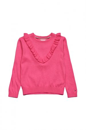 Пуловер Tommy Hilfiger. Цвет: бордовый