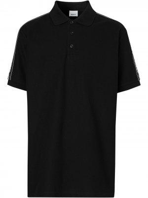 Рубашка поло с логотипом Burberry. Цвет: черный