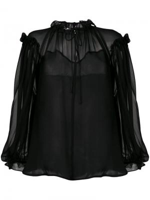 Полупрозрачная блузка Plein Sud. Цвет: черный