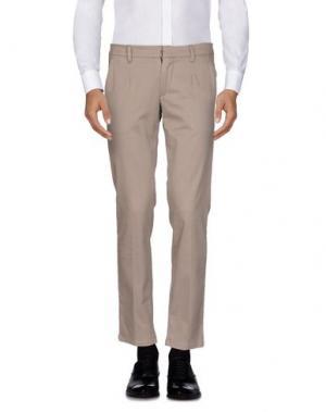 Повседневные брюки JULIAN KEEN. Цвет: голубиный серый