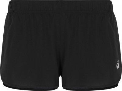 Шорты женские Core Split, размер 46 ASICS. Цвет: черный