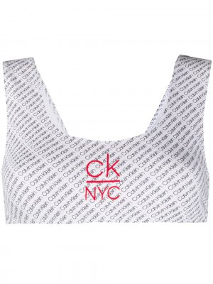 Лиф бикини с логотипом Calvin Klein. Цвет: белый