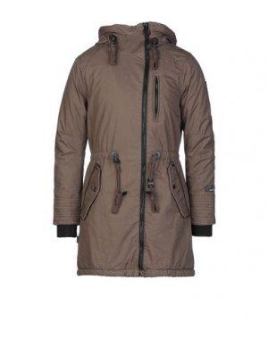 Пальто KHUJO. Цвет: коричневый