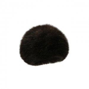 Берет из меха соболя Kussenkovv. Цвет: коричневый