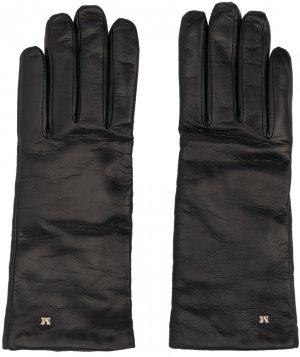 Black Leather Gloves Max Mara. Цвет: 010 black