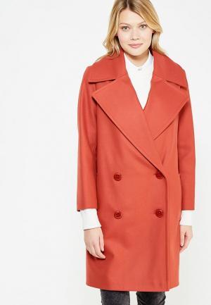 Пальто Immagi. Цвет: коралловый