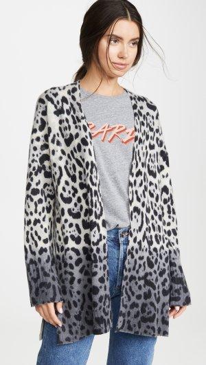 Jocelyn Leopard Cashmere Cardigan 360 SWEATER