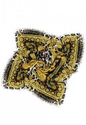Платок с принтом Baroque VERSACE. Цвет: черный