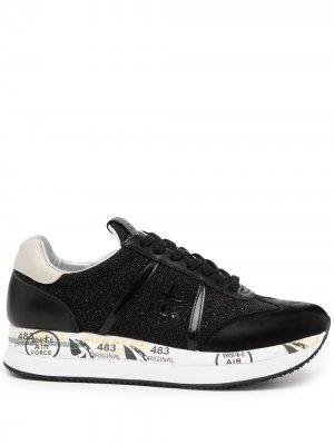 Кроссовки на шнуровке Premiata. Цвет: черный