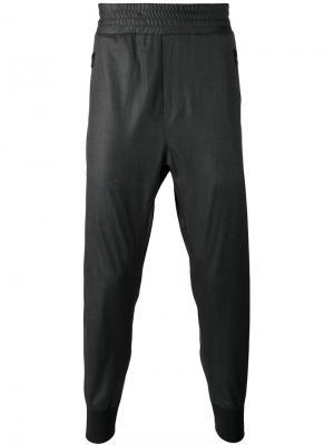 Костюмные брюки с узкими манжетами Wooyoungmi. Цвет: чёрный