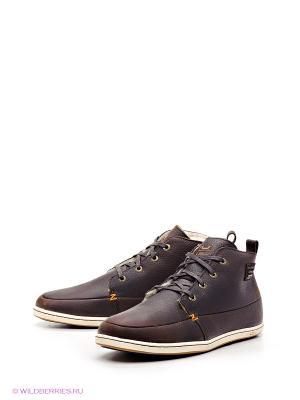 Ботинки HUB. Цвет: темно-коричневый