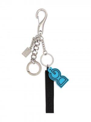 Logo-patch chain-link keyring Dolce & Gabbana. Цвет: серебристый
