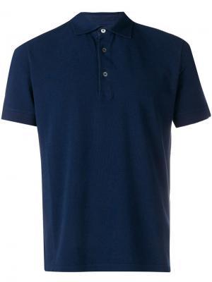 Классическая рубашка-поло Ballantyne. Цвет: синий