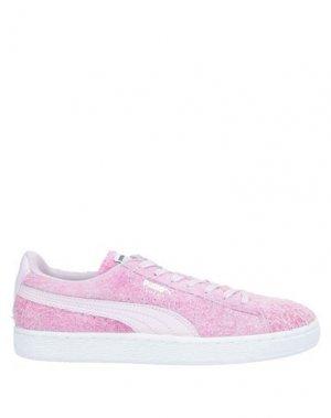 Низкие кеды и кроссовки PUMA. Цвет: розовый