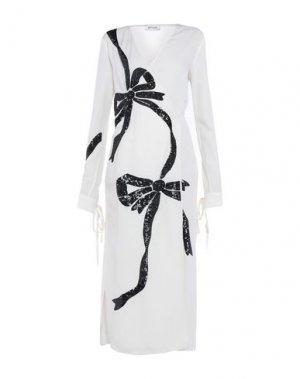 Длинное платье ATTICO. Цвет: слоновая кость