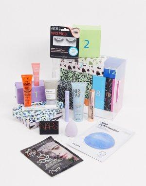 Адвент-календарь на 12 дней с набором средств по уходу за лицом и телом ASOS-Бесцветный Beauty Extras