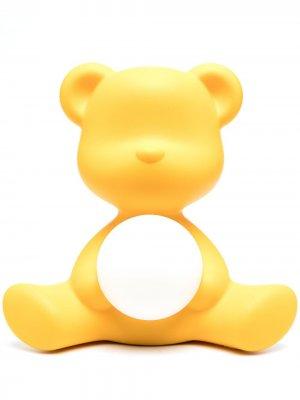 Настольная лампа Teddy Girl 32 см Qeeboo. Цвет: желтый