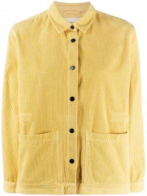 Вельветовая куртка Folk. Цвет: желтый
