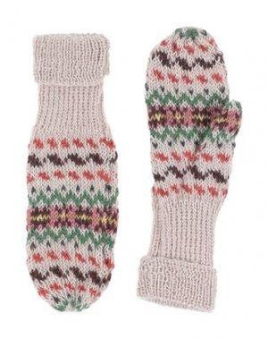 Перчатки CARAMEL. Цвет: бежевый