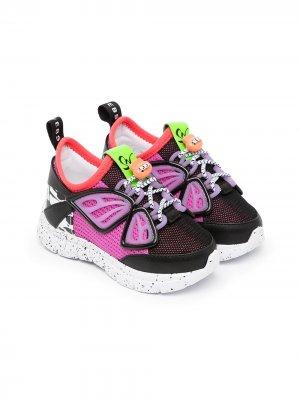 Кроссовки Fly-By на шнуровке Sophia Webster Mini. Цвет: фиолетовый