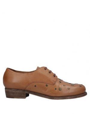 Обувь на шнурках ALBERTO FERMANI. Цвет: желто-коричневый