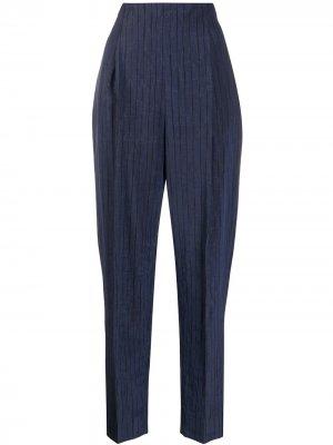 Зауженные брюки 1990-х годов Romeo Gigli Pre-Owned. Цвет: синий