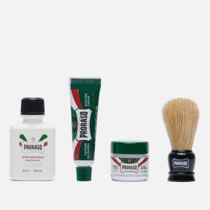 Набор для бритья Travel Shaving Set Proraso. Цвет: белый