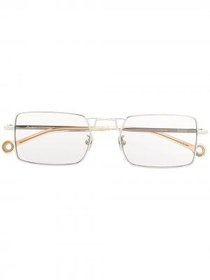 Солнцезащитные очки Paris в квадратной оправе Etudes. Цвет: серебристый