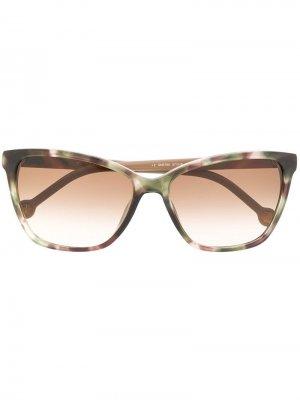 Солнцезащитные очки в оправе кошачий глаз Ch Carolina Herrera. Цвет: нейтральные цвета