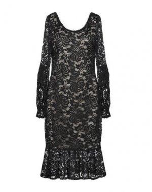 Платье до колена CASTING. Цвет: черный