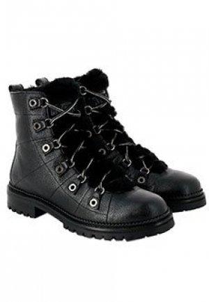 Кожаные ботинки JIMMY CHOO. Цвет: черный