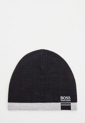 Шапка Boss. Цвет: черный
