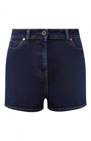 Джинсовые шорты Valentino. Цвет: синий